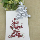 Merry Christmas Happy New Year Letter Scrapbook Paper DIY Metal Cutting Dies NEW