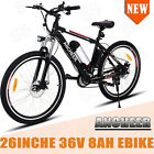 ANCHEER Folding Electric Bike City Bicycle 350W Lithium Battery 26 Wheel Moped