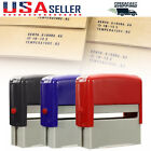Self Inking Rubber Stamp Kit Ink Stamper Text Print Office Business Name Address