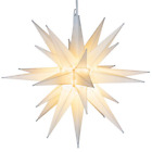 White Moravian Star Hanging Outdoor Christmas Star Light Use as Decoration