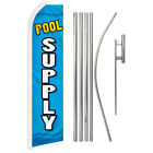 Pool Supply Advertising Swooper Flutter Feather Flag Kit Pool Maintenance