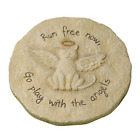 Cat Pet Animal Memorial Stone Rock Stepping Paw Print Plaque Grave Marker Garden