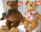 New MWMT Rare TY Grams + Gramps Beanie Baby Bears Retired New Ty Store Exclusive