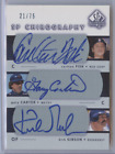 CARLTON FISK GARY CARTER KIRK GIBSON 2003 SP AUTHENTIC CHIROGRAPHY TRIO AUTO 75