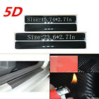 4x Accessories 5D Sticker Carbon Fiber Car Scuff Plate Door Sill Protector