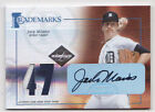 2005 Leaf Limited Jack Morris 47 Auto Patch Trademarks Detriot Tigers