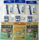 LOT OF 6 DENTIST GETTING BRACES STICKERS EMBELLISHMENTS SEE PICTURES