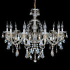 10 Arms Crystal Cut Glass Large Chandelier Pendant Ceiling Candle Light Home E12