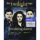 DVD The Twilight Saga Breaking Dawn Parts 1  2 Extended Edition Blu ray +