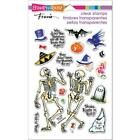 New Stampendous RUBBER STAMP clear HALLOWEEN SKELETON HUMOR FREE USA SHIP