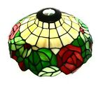 Vintage Floral Stained Leaded Slag Glass Tiffany style Light Shade 14