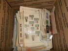 WORLDWIDE BOXLOT OVER 10 LBS OF ALBUM PAGES W STAMPS BOX 2 UNCHECKED