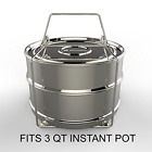 3qt Mini Stackable Stainless Steel Pressure Cooker Steamer Insert Pans W Handle