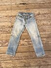 Vintage Levis 501 Redline Selvedge Jeans Denim 32x30 USA DISTRESSED