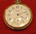 Waltham Pocket Watch Model 1894 Grade No 225 w Keystone Extra Gold Case c1917