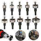 10Pc Hole Saw Tooth Kit HSS Steel Drill Bit Set Cutter Tool for Metal Wood Alloy