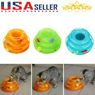 US Cat Dog Cute Toy Crazy Ball Disk Interactive Amusement Plate Trilaminar Toy