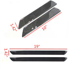 4X Car Carbon Fiber Sticker Car Door Welcome Plate Sill Scuff Cover Trim