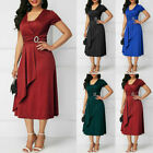 Women's Business Cocktail Evening Formal Work Formal Party Midi Dress Plus Size