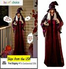 Halloween Haunted House Life Size Hanging Animated Talking Witch Prop Decor 71in