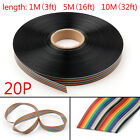 10 12 14 16 20 26 30 34 40pin Color Rainbow Ribbon Wire Cable Flat 1.27mm Ur