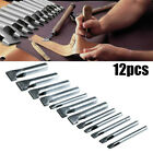 12 Pcs Leather Craft Hole Punch Oval Shape Cutter Tool for Bands Belts Canvas US