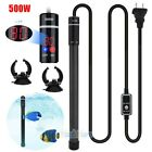 500W LED Aquarium Submersible Water Heater Titanium Alloy for Fish Tank 110V