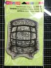 New Stampendous Rubber Stamp CHRISTMAS store front TOYBOX WINDOW free USA shp