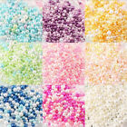 500Pcs Colorful Resin Glass Pearl Spacer Loose Beads For Jewelry MakingNo Hole