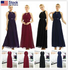 Women Chiffon Bridesmaid Dress formal Wedding Party Long Evening Prom Gown #4-16