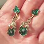 BEAUTIFUL FRUIT SALAD MOLDED GLASS UnSigned DESIGNER DANGLE EARRINGS