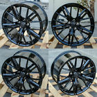 20 Gloss Black Wheels 20x10 +23 20x11 +43 Fit Chevrolet Camaro Chevy Set 4