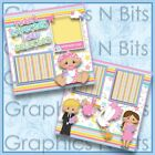 I WASNT EXPECTED I WAS SELECTED Printed Premade Scrapbook 2 Page Layout