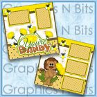 YOUR DANDY Printed Premade Scrapbook 2 Page Layout
