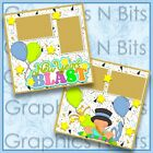 NEW YEARS BLAST Printed Premade Scrapbook 2 Page Layout