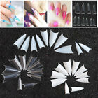 500Pcs Stiletto Pointed Clear White Natural French False Acrylic Nail Tips USA