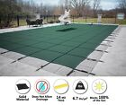 GLI ValueX Green Solid Swimming Pool Winter Safety Cover w Mesh Drain