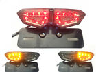 12V Motorcycle Brake Tail Turn Signal License Plate Integrated Light Universal