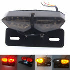 12V Motorcycle Brake Tail Turn Signal License Plate Integrated Light Accessories