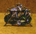 Welforth Pewter Business Card Holder H391 HUMMINGBIRD with FLOWERS NEW Box