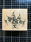 New Vintage PSX Rubber Stamp F 1247 PUPPY TAILS DOGS free USA ship
