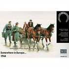 Master Box Somewhere In Europe 1944 (4 Figures, 2 Horses And Cart) Figure Model