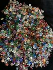 New 1 lb 10 5 8 oz mixed glass beads including swarovski crystals