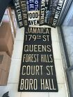 NYC SUBWAY ROLL SIGN COURT BORO HALL BROOKLYN HEIGHTS JORALEMON JAMAICA QUEENS