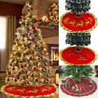Merry Christmas Tree Skirt Mat Christmas Holiday Party Decoration Ornaments Red