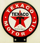 Texaco Porcelain Coated Double Sided Lubester Sign