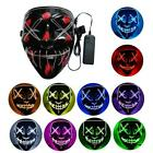 For Festival Masquerade Parties Halloween LED Light Up Mask Cosplay Costume