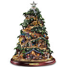 Thomas Kinkade Musical Lighted Nativity Sculpture Christmas Jesus Sculpture NEW
