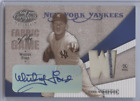 WHITEY FORD 2004 LEAF CERTIFIED MATERIALS FABRIC OF THE GAME AUTO RELIC 1 2