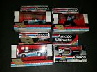 Lot of 4 Racing Champions Amoco Racing Pro Stock 1/64 Scale vehicles 3 drivers